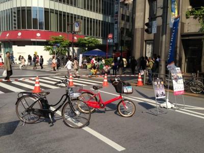 自転車展示風景